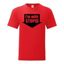 T-shirt I'm with stupid-F02