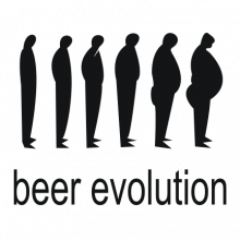 T-shirt Beer evolution-F06