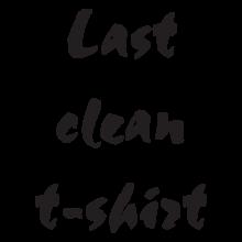 T-shirt Last clean t-shirt-F101