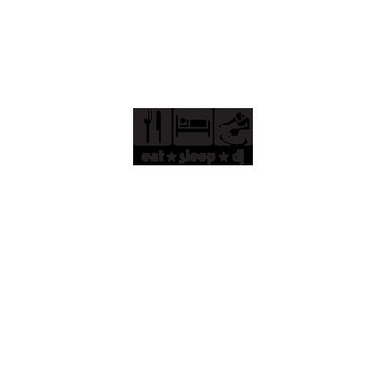 T-shirt Eat,sleep,DJ-F102