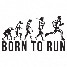 T-shirt Born to run-F104