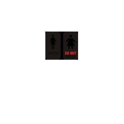 T-shirt Enter, Do not enter-F17