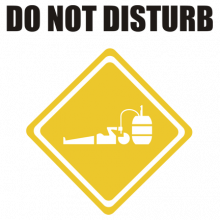 T-shirt Do not Disturb-F20