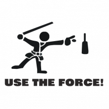 T-shirt Use the force-F25