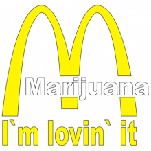 T-shirt Marijuana, I'm lovin' it-F42