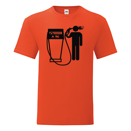 T-shirt A 96 petrol shoot-F57