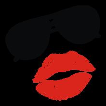 T-shirt Sunglasses kiss-F60
