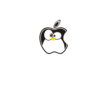 T-shirt Apple penguin-F78