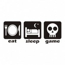 T-shirt Eat, sleep, game-F84
