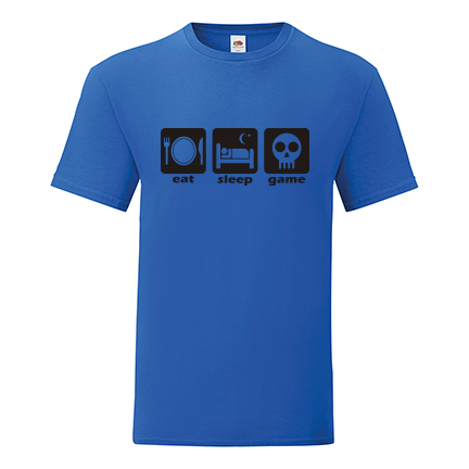T-shirt Eat, sleep, game-F84