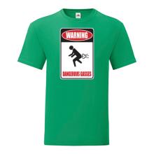 T-shirt Warning Dangerous gasses-F87