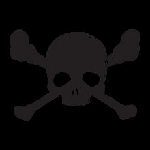 T-shirt Skull-bones-F89