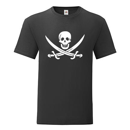 T-shirt Skull-pirate swords-F90