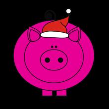 T-shirt-Pig Santa-I11