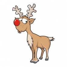 T-shirt-Christmas deer-I13