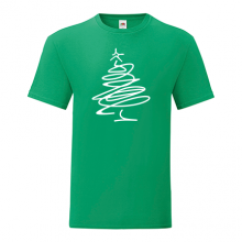 T-shirt-Christmas tree abstract-I15