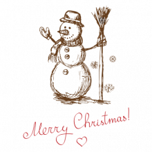 T-shirt-Merry Christmas-Snowman-I20