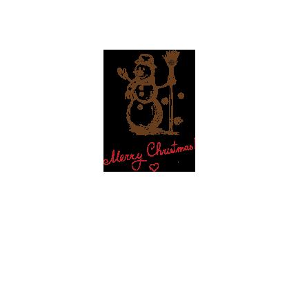 T-shirt-Merry Christmas-Snowman-I20