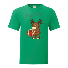 T-shirt-Merry Christmas-Deer-I21