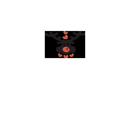 T-shirt Deer head-I25