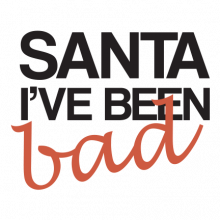 T-shirt Santa, I've been bad-I26