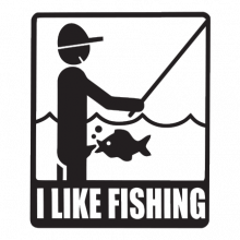 T-shirt I like fishing-J02