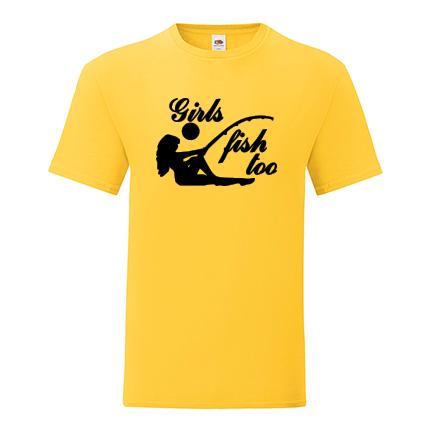 T-shirt Girls fish too-J08