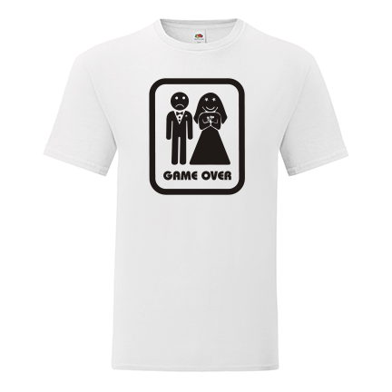 T-shirt for Bachelorette party Game over-L01