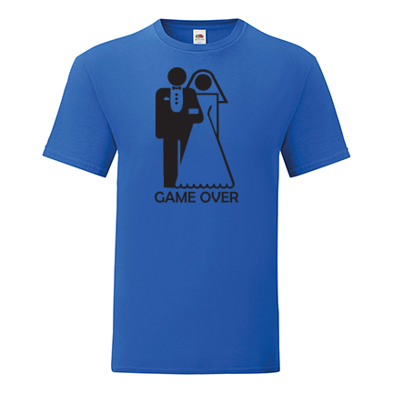 T-shirt for Bachelorette party Game over-L10