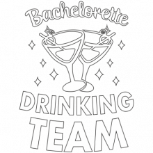 T-shirt for Bachelorette party Bachelorette drinking team-L13