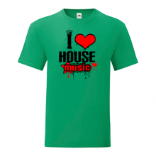 T-shirt I love house music-M07