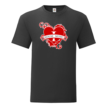 T-shirt I love house music-M08