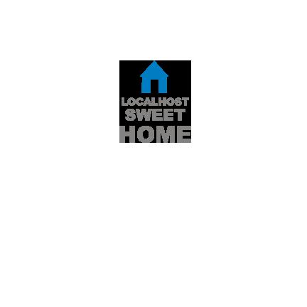 T-shirt Localhost, sweet home-P06