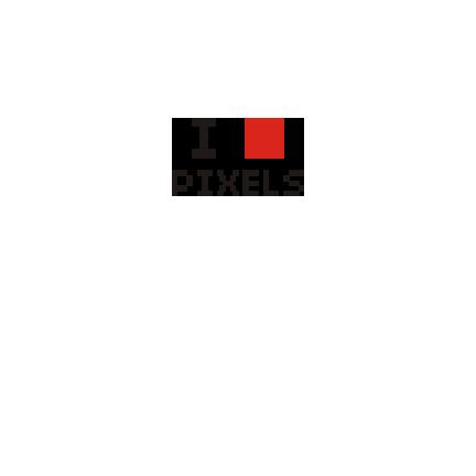 T-shirt I love pixels-P14