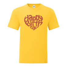 T-shirt Happy birthday-heart-R02