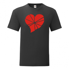 T-shirt Heart in pieces-S02