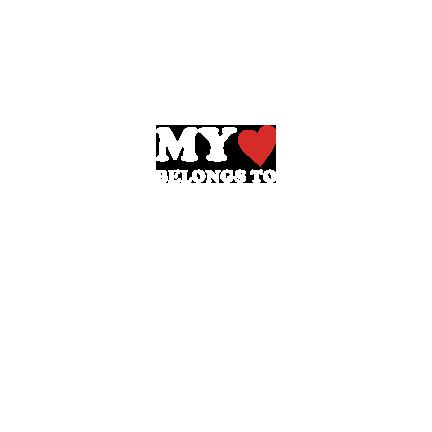 T-shirt My heart belongs to-S05