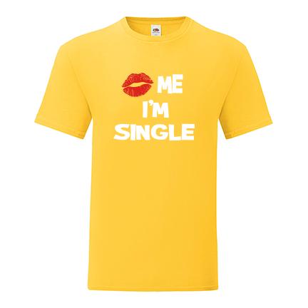 T-shirt Kiss me, I'm single-S06