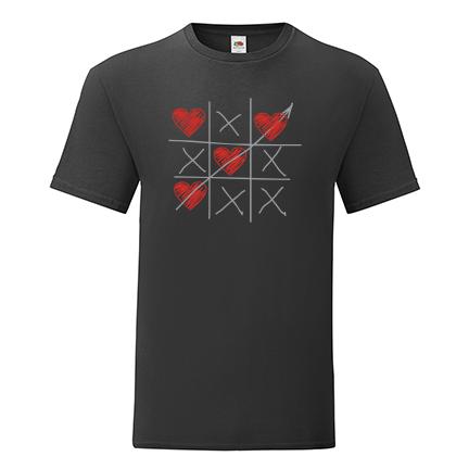T-shirt XO chess hearts-S09