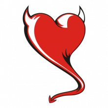 T-shirt Heart devil-S10