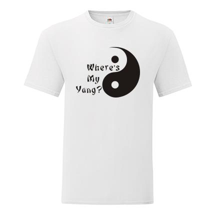T-shirt Where's my Yang-S12