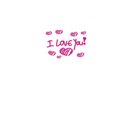 T-shirt I love you-S22