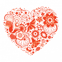 T-shirt Heart flowers-S23