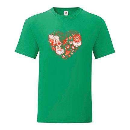 T-shirt Heart flowers-S23