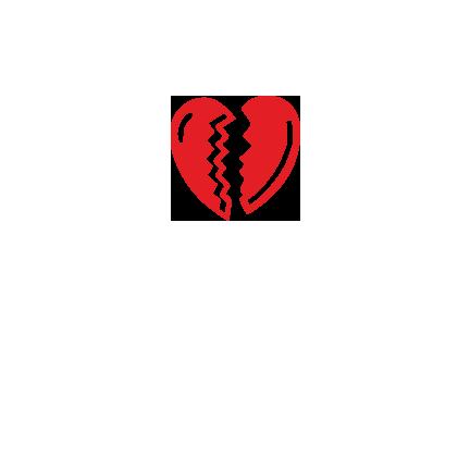 T-shirt Broken heart-S28