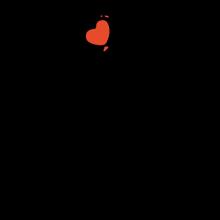 T-shirt Kitty with heart balloon-S33