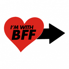 T-shirt I'm with BFF-S35