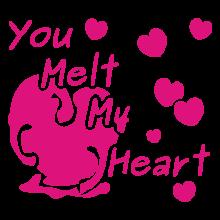 T-shirt You melt my heart-S37