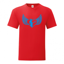 T-shirt Heart with wings, devil woman inside-S39