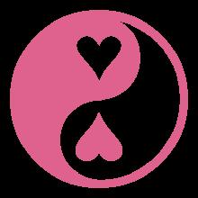 T-shirt Yin-Yang hearts-S41